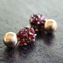 Ciita--Blossom Earrings - Bordeaux