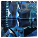 nakaban ハンカチ「blau blau #1」