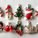 サンタ・ツリー・ブーツ クリスマスのチャーム 10個セット(約17mmから27mm) (B041)