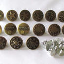 デニム・ジーンズ用メタルボタン 15個セット(17mm) (056)