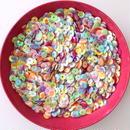 【アウトレット商品】カラフルスパンコール ライトカラー(クリーム) 2500枚セット(6mm)(B423)