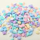 カラフルクリーム色のビーズ(海の生き物たち) 250個セット(約12mmから17mm) サカナ・カイ・ホタテ・ヒトデ・タツノオトシゴ(パステルカラー)(B375)