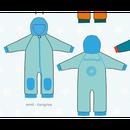ducksday Fleece suits Mint/turqoise ( 74-80cm~92-98cm )