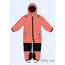 ducksday Toddler snow suit Funky red (98-104cm ~ 110-116cm )