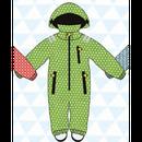 ducksday Rain suits Funky green  (98-104cm~110-116cm)