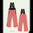 ducksday Winterpants with braces Funky red ( 8y / 10y / 12y )