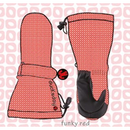 ducksday Mittens Funky red ( S / M / L )