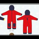 ducksday Fleece suits Red/blue ( 74-80cm~92-98cm )