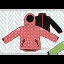 ducksday Detachable fleece&jacket Funky red ( 2y / 4y / 6y )