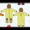 ducksday Fleece suits Lime/brown ( 74-80cm~92-98cm )