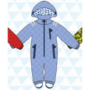 ducksday Rain suits yo  (98-104cm~110-116cm)