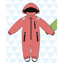 ducksday Rain suits Funky red  (98-104cm~110-116cm)