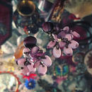 vintage earring「淡い紫色ジャラリ」