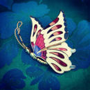 Vintage Brooch 蝶の横顔