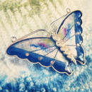 Vintage Brooch  青白の蝶々