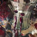 pierce / earring「深赤紫の樹脂ビーズ」
