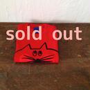 ▲送料無料 90サイズ/半そで ねこもぐらさんTシャツB 5.6oz uyoga cat mole レッド ほっぺあり 600番目のねこもぐらさん
