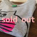 ▲送料無料 100サイズ/長そで ねこもぐらさんTシャツR uyoga cat mole ダークヘザー ほっぺあり 645番目のねこもぐらさん