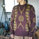 South2 West8,Loose Fit Sweater - Mohair / Native