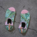 "FITKICKS Womens Pink x YellowGreen ""Coco Palm"""
