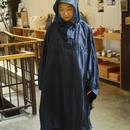 FAIRWHEATHER  packable rain poncho (navy)
