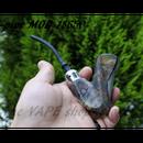 【セミメカニカル】X-PIPE スタビライズドウッド MOD 18650バッテリー 【ロック機構付き】