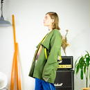 LAYER TAPE COAT / green