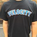 VELOCITY ベースボールロゴ Tシャツ(ブラック)