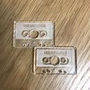 カセットテープ型7インチアダプター 色:クリア/黒