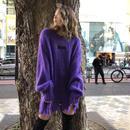 再入荷クラッシュニット(purple)