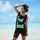 Feel Good ロングタンク (black)