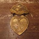 【 1920s LOYAL ORDER OF MOOSE 】  Brass pin badge.