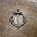 NAVAJO Sterling Silver  ANCHOR   PENDANT TOP