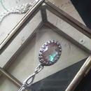サフィレット(アンティーク 14×10ミリ)クラシカル Silver925 ネックレス