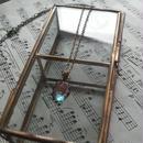 アンティーク サフィレット(11.5×8.5ミリ) ローズカット ネックレス