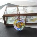 ヴィンテージスワロフスキー Crystalオーロラflower大粒 ネックレス
