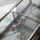 アンティーク サフィレットBeads/ジルコニア silver925ネックレス