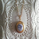 ヴィンテージ Blue薔薇/小さなLocket ネックレス