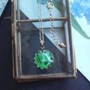 Antique Greenマーブル15ミリ ネックレス