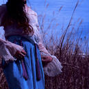 Flare Sleeve Cream Lace blouse