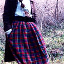 Tartan  Check Cotton Skirt