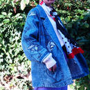 80's Flower Pattern Denim Jacket