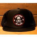 JOHNNY MESH CAP【BLK/BLK】FLAT VISOR