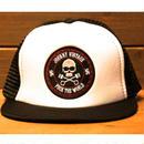 JOHNNY MESH CAP【BLK/WHT】FLAT VISOR