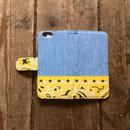 旧モデルサンプルSALE!!Bandanna x Chambray  iPhone6/6s Case, Yellow