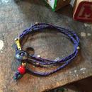 Vintage Metal Button Bracelet/Necklace, Navy/PPL