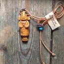 1960's Boy Scouts Neckerchief Slide Necklace , Kachina