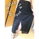 編みロングスカート♡BLACK