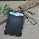 パスケース 牛革 本革 革 レザー チェーン付き GREEN 18103101