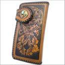 財布 メンズ 長財布 レザー シェリダンカービングクラフトウォレット真鍮コンチョ 10003187